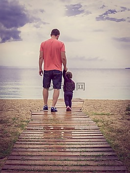 父亲节,爱,家庭