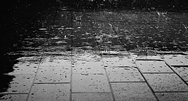 雨,地板,水
