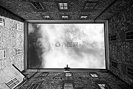 建筑物,天空,云