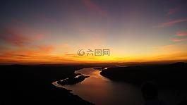 日落,風景,景觀