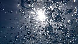 水,泡状,水里的气泡