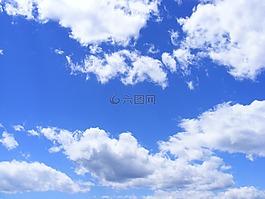 蓝色,云,一天