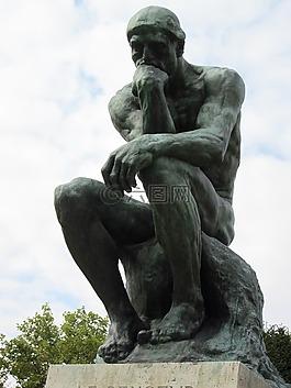 思想家,青铜,雕塑