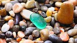 鵝卵石,石頭,多彩的圓形