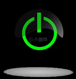 黑色的電源按鈕,電源按鈕,按鈕