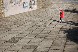 孤獨,男孩,兒童