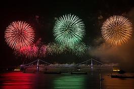 火焰,藝術節,夜景
