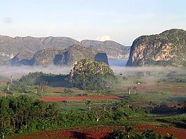古巴,霧,山風景