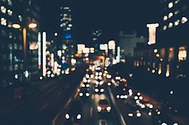 城市,夜,光