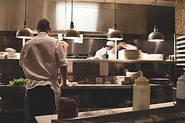 厨房,工作,餐厅