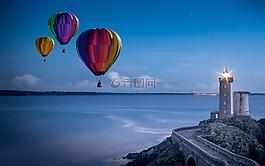 气球,热空气气球骑,使命