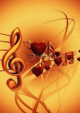 譜號,音樂,愛情