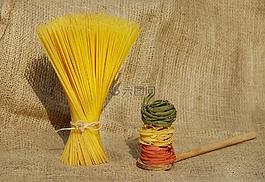 面条,面食,黄色