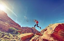 男子,跳跃,快乐