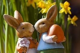 复活节兔子,复活节,兔