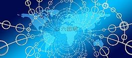 網絡,地球,大洲
