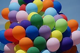 气球,颜色,夏天