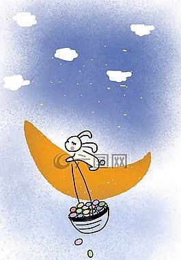 兔子,酯兔子,月亮