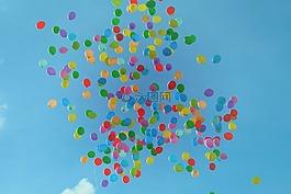 气球,多彩,色彩缤纷