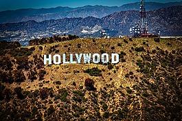 好莱坞标志,标志性建筑,山