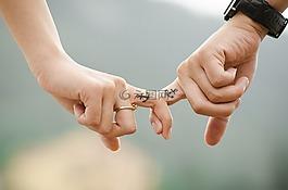 手,爱,夫妇