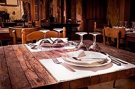 餐廳,表,餐飲