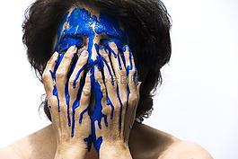 颜色,脸,蓝色