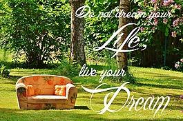 夢想,活,生活的夢想