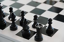 象棋,棋盤,黑色