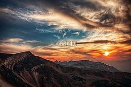 猶他州,山,天空