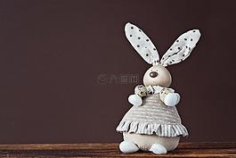 装饰hase,复活节兔子,鹌鹑蛋