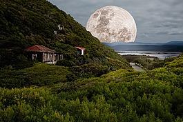 超級月亮,滿月,月光