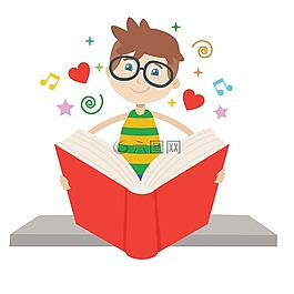读,书,学生