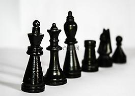 象棋,數字,黑色