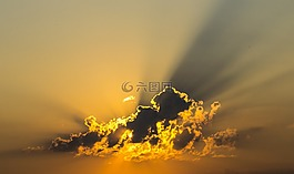 云,天空,黄色