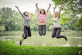 跳跃,跳,幸福的人
