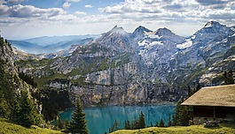 山,湖,bergsee
