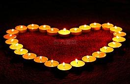蠟燭,心,火焰