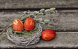 复活节彩蛋,复活节巢,复活节装饰