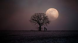 冬天,寒冬,月球
