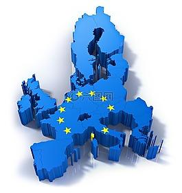 歐洲地圖,孤立,歐洲