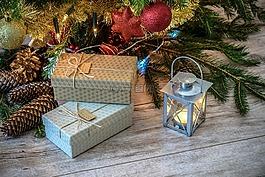 復古的禮物,圣誕樹,年份