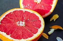 葡萄柚,水果,红色