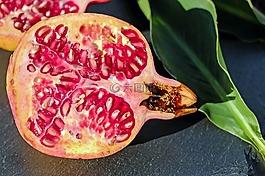 石榴,水果,红色