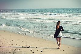 女子沙灘,走開,女人走開