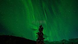 北极光,绿色,极光