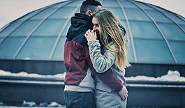 夫妇,拥抱,爱