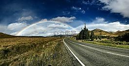 彩虹背景,巷道,美麗的風景