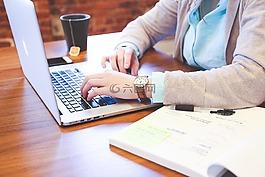 学生,键入,键盘