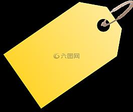 标签,黄色,价格标签